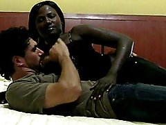 Lusty African Juvenile Goes Interracial