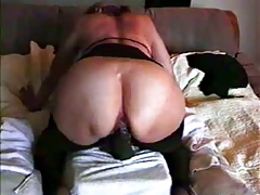 Big Black Dildo In Her Slut