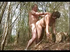 My wife drilled in the forest