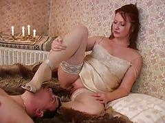 Mature Female-dominant - FaceSitting, Men's Masturbation (+slow)