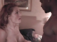 Hot white wife fucks darkish man