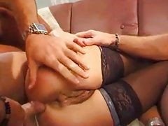 full-grown hairy woman analed and double analed