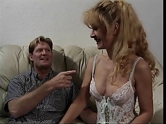 Sexy grandpa fairy-haired in underware acquires fucked on a mattress