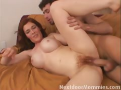 Redhead mamma blowing and banging