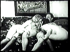 Classic cage of love licking and smokin' two men plus one female