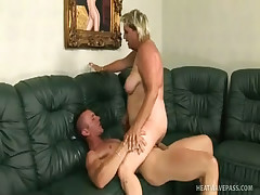 Horny grandma bbw kokai cleans the phallus with tough fuck