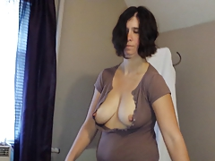 Sexy Chell Nipples Through Shirt 048