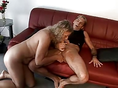 Lascivious mature couple having joy