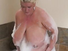 Solo #19 (Gorgeous Blonde BBW MILF in the Hottub)