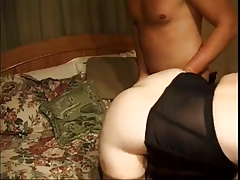 Old MILF Screwed Severe By Twofold Champs On Bed
