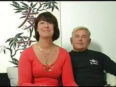 Moist Mamacita 155 brunette german mature milf in two men plus one female