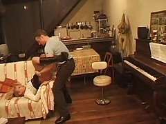 great french milf receives anal