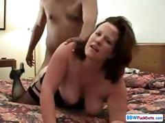 BBW Annabelle Flowers sucks a murky snake during getting nailed by white
