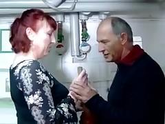 German clammy fairy-haired in fishnet fucks her comrade