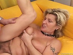 Your favorite granny doxy is back, in this matchless fuck scene Wanda purchases her old saggy meat curtains pounded by overweight overweight fellow on the sofa. Then Marinoka purchases down on her knees and sucks overweight stallions petite cock, till get