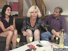 My elegant is beautiful, so fabulous that even my parents are turned on by her! When MILF and father saw her, they preferred to fuck Maria and luckily, this girl agreed. My dark hair started making out with MILF and exactly after some boob edge licking th