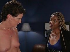 Fairy-haired brown lezdom anal screws placid
