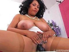 Danica Collins Fucks Sex tool On Chair With Donna Ambrose