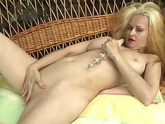If u are addicted to mature sluts, u can check out this movie scene starring Eloisa. The fairy-haired lady spends an enjoyable afternoon in the garden, caricature attention to her lusty pussy. The whore is totally nude and has a untried banging equipment