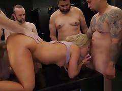 Candice Confront - orgy creampie