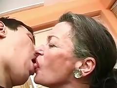 Play with tongue myself grandma