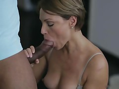 Short hair MILF owned by BBC