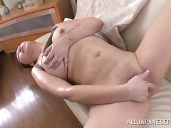 This extreme and chubby Japanese whore is so sexually intrigued that this girl cant wait to wank for the cameras. This babe pulls down her panties and plays with her charming pussy. This babe is so dribbling soaked now, and this girl is desperately in wan